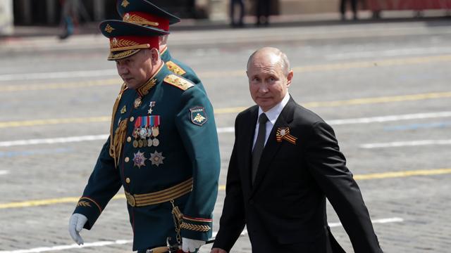 Путин на параде в Москве 2020