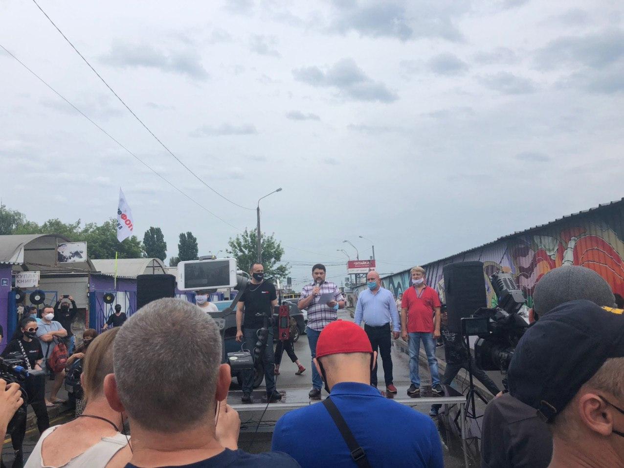 Протести на книжковому ринку Петрівка: чого вимагають підприємці (ФОТО)