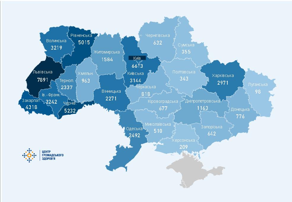 В Украине выросло количество заболевших Covid-19