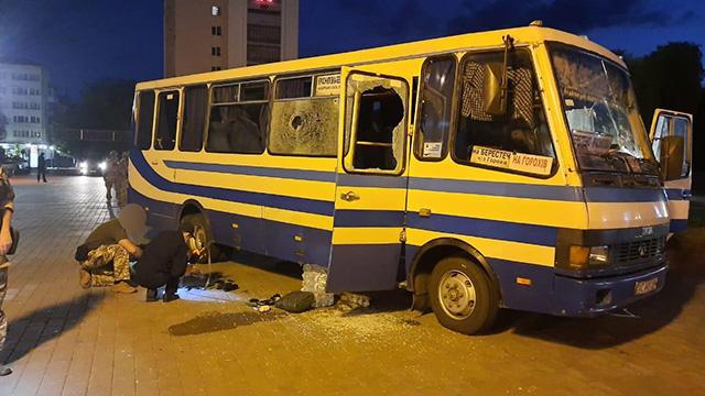 захоплення автобуса у Луцьку