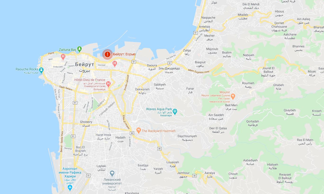 Карта Бейрута