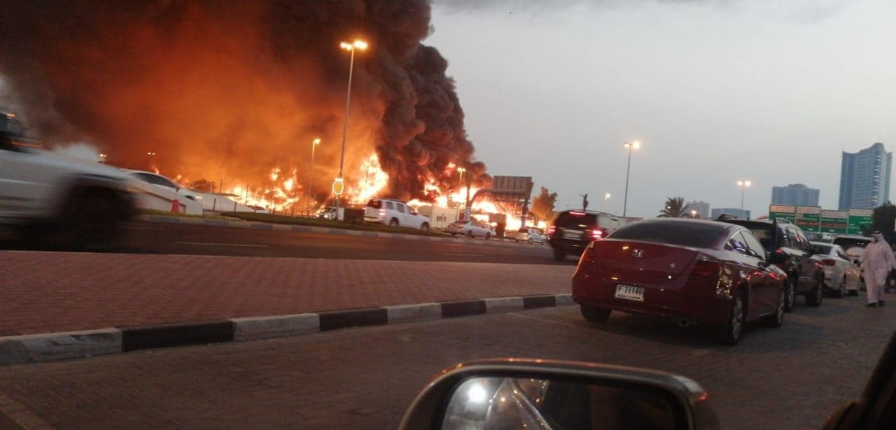 Пожежа на ринку в Аджмані (ОАЕ): ВІДЕО пожежі