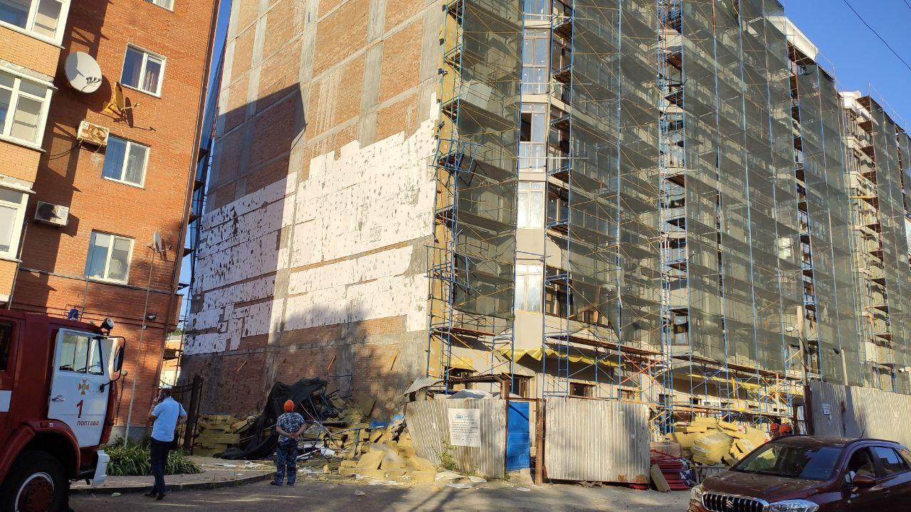 У Полтаві на будівництві обвалилось риштування – є постраждалі