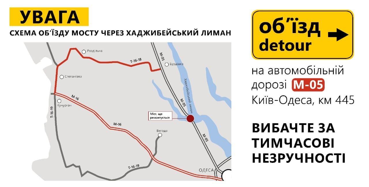 Карта дорога Одеса