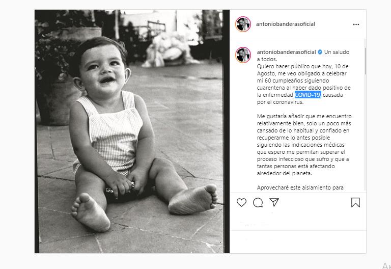 Антоніо Бандерас захворів на коронавірус