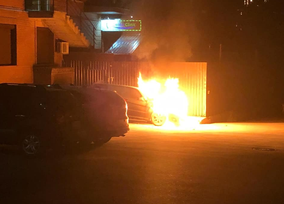 Гео Леросу підпалили автомобіль