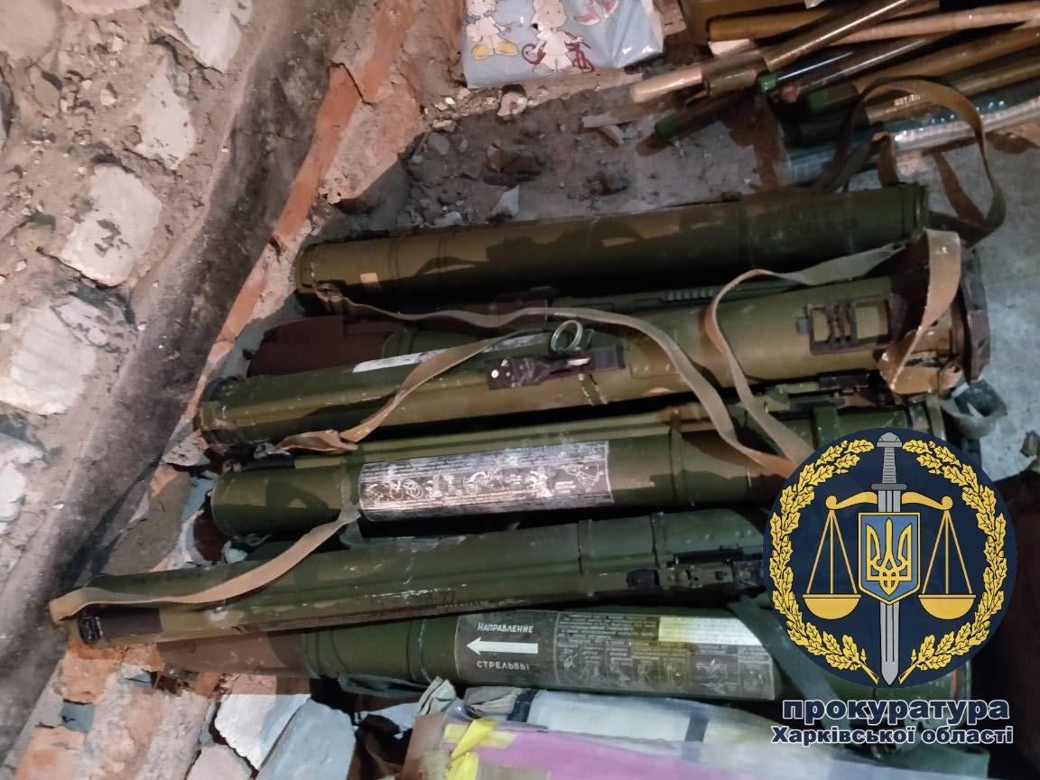 На Харківщині знайшли нелегальний схрон зброї