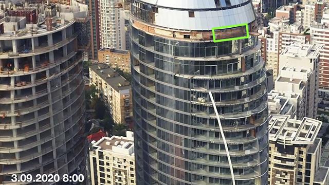 Ніякої сенсації: В Taryan Group прокоментували загоряння техповерху на будівництві