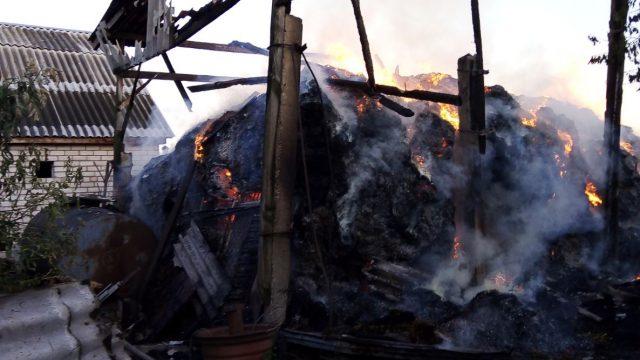 В Житомирской области во время тушения пожара травмировался 7-летний мальчик