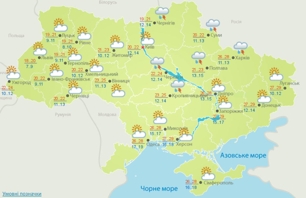 Погода на 8 вересня 2020 в Україні – прогноз погоди на сьогодні
