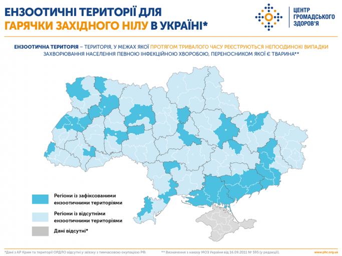Ензоотичні території для ГЗН в Україні