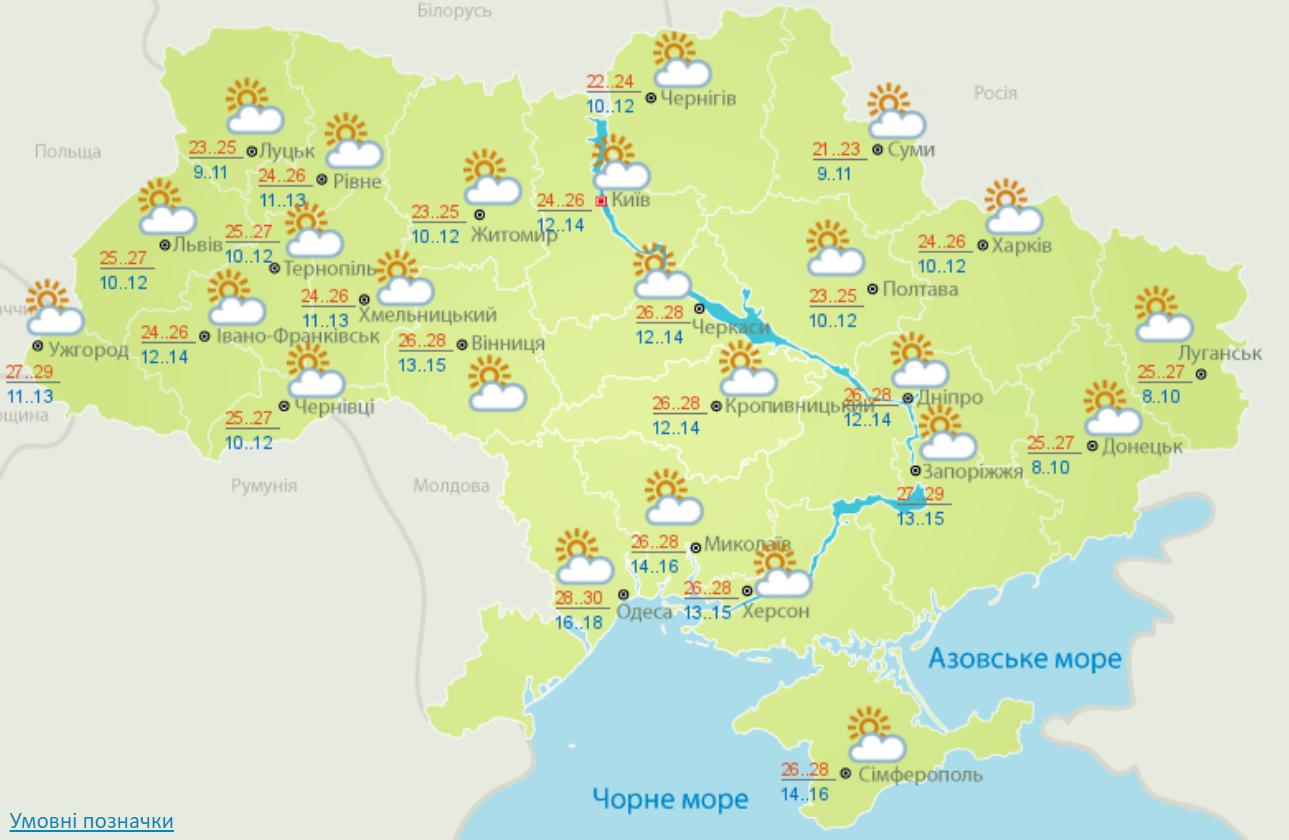 Погода на 14 вересня 2020 в Україні – прогноз погоди на сьогодні
