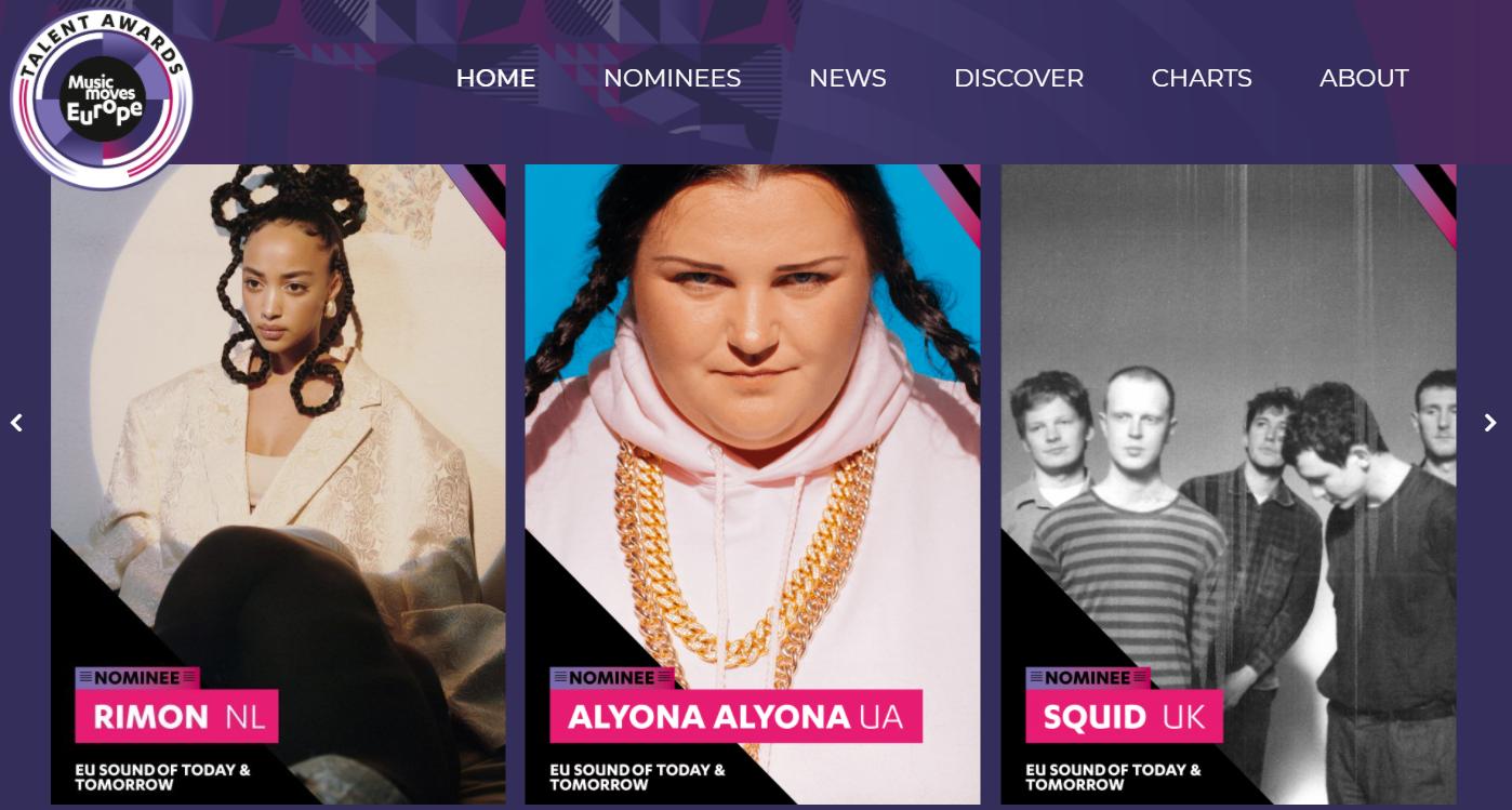 Alyona Alyona стала номінантом The Music Moves Europe Talent Awards