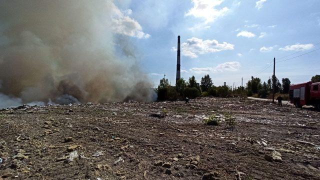 ДСНС пожежа сміттєзвалище
