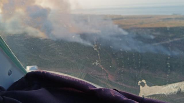 Пожежа на полігоні під Херсоном