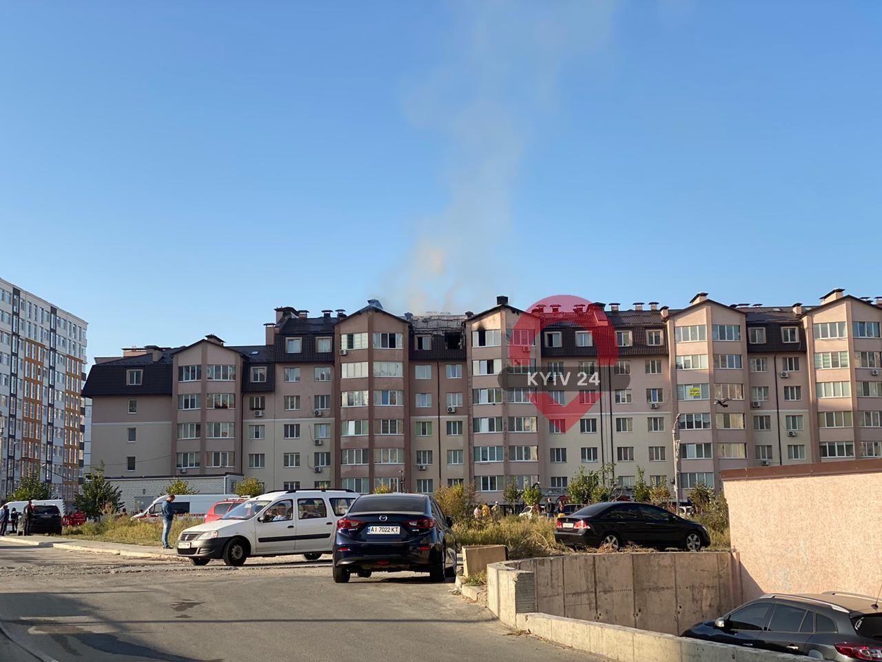 У Києві та Софіївській Борщагівці загорілися дві багатоповерхівки