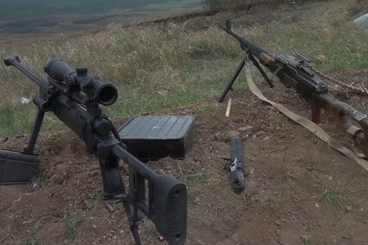 Азербайджан показав трофеї, захоплені у бою з вірменськими військами