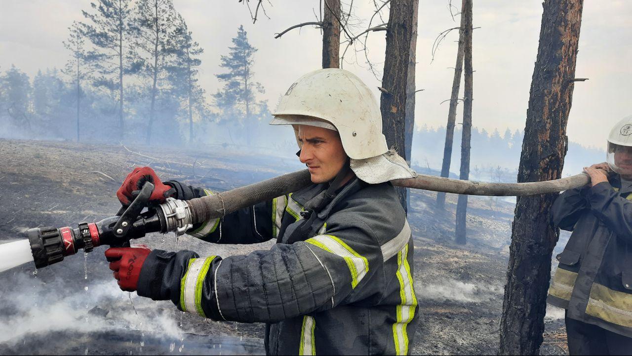 Пожежі в Луганській області: площа вогню перевищила 20 тис. га