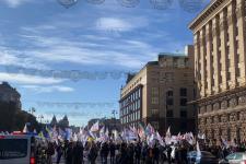 Протестующие снова перекрыли Крещатик: Киев остановился в пробках (КАРТА)