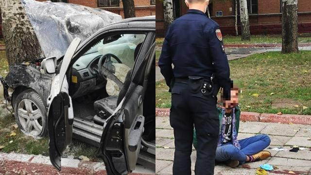 Я — Бог: в Одессе неадекватный водитель протаранил авто полиции