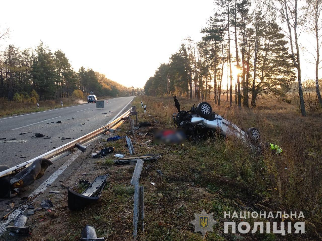 Audi влетіло у відбійник під Сумами: четверо загиблих