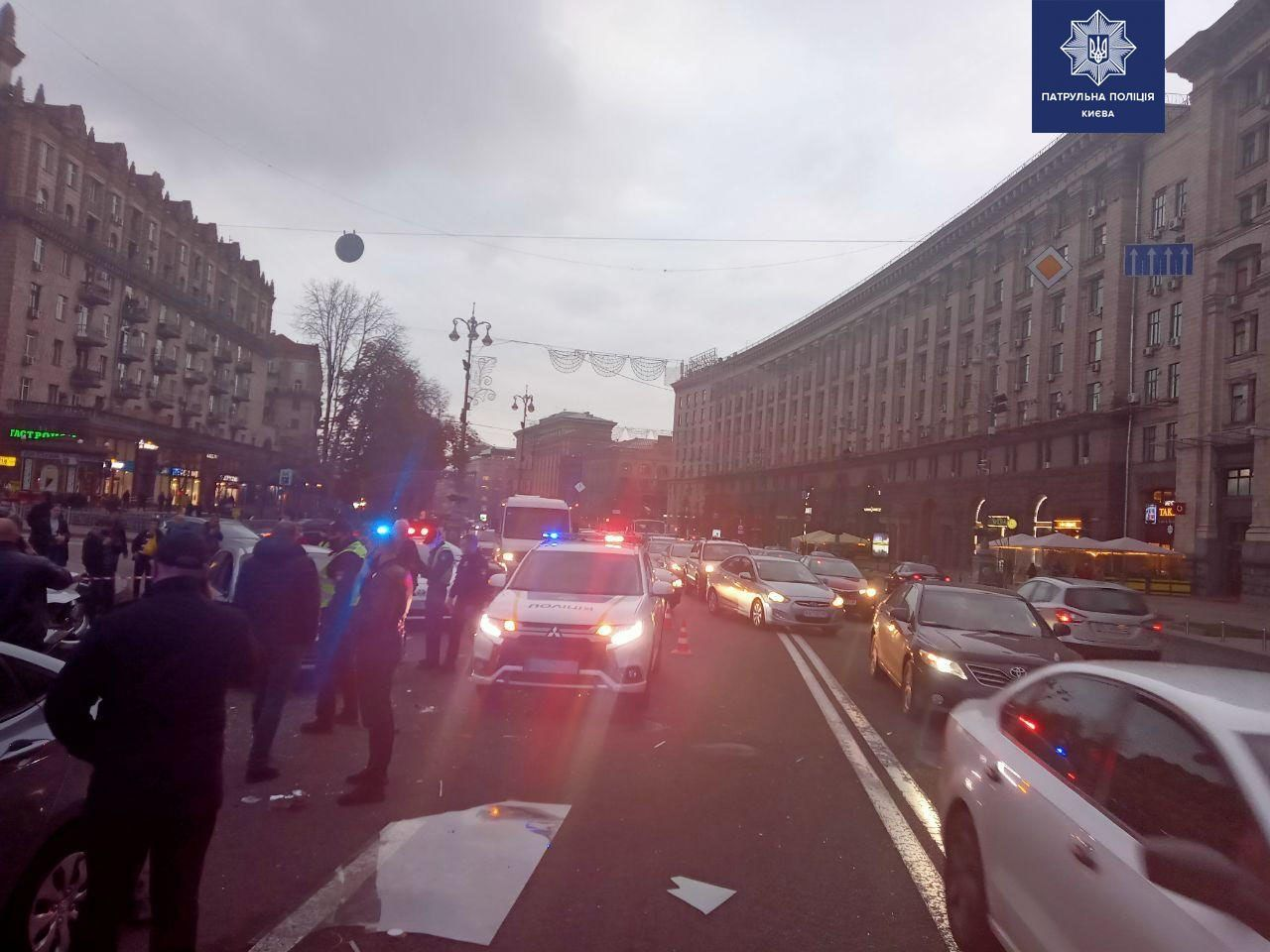 ДТП на Майдані Незалежності у Києві 30 жовтня (ФОТО і ВІДЕО)