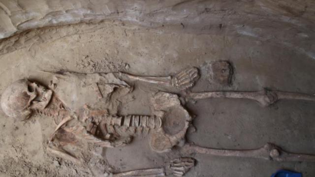 Могила скіфського воїна на Хортиці