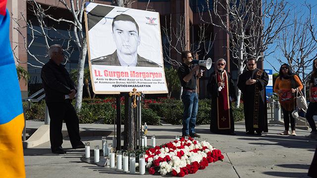 Протест біля консульства Азербайджану в пам'ять про вбитого Гургене Маргаряна