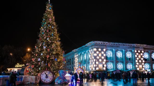 Новий рік на Контрактовій площі 2019-2020