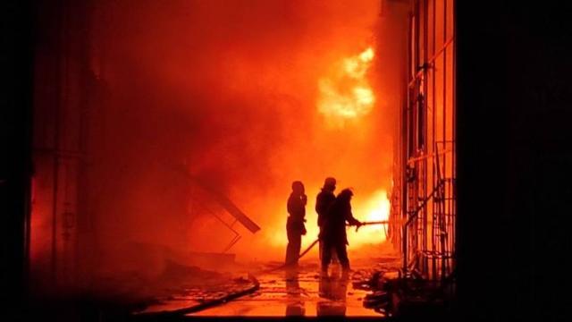 пожежа у ТР Барбашово (Харків)