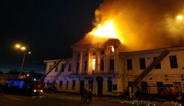 Пожежа в Полтаві – горить торговельно-розважальний центр
