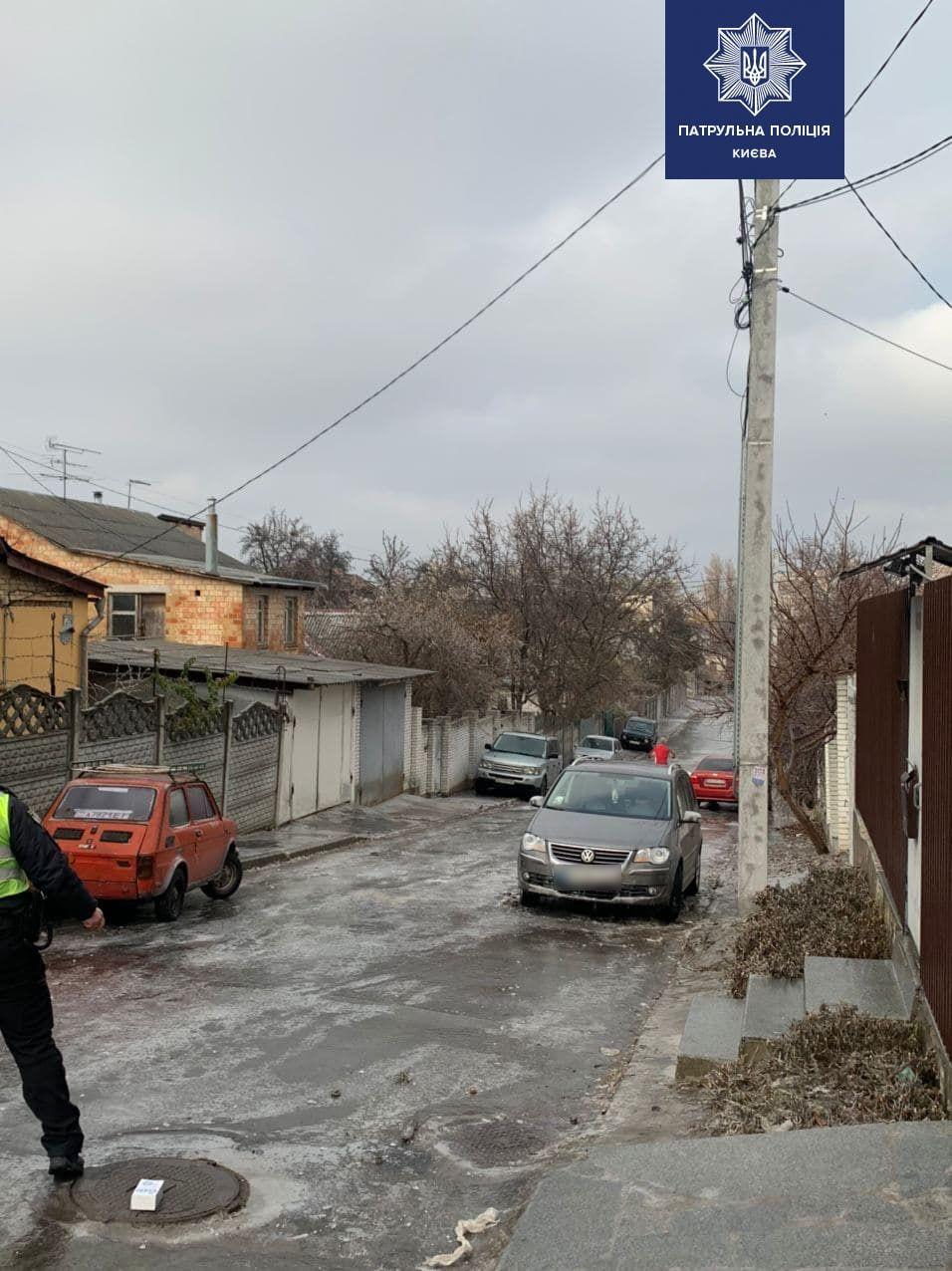 Ожеледиця у Києві спровокувала безліч ДТП (ФОТО і ВІДЕО)