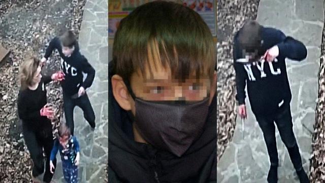Злизував кров з ножа: матір оприлюднила жахливі кадри 14-річного сина-різника