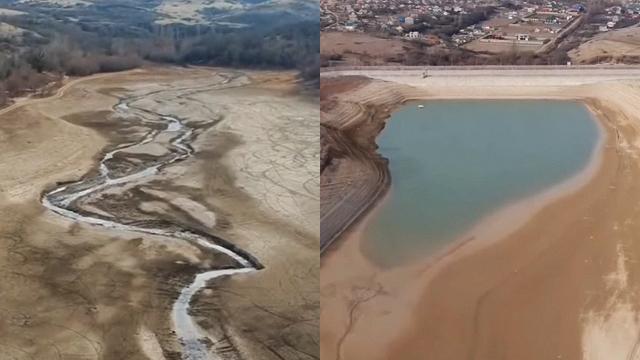 В Криму пересохло Аянське водосховище (ВІДЕО)