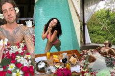 Шампанське і басейн: Каменських та Дорофеєва поділилися відео з відпочинку на островах