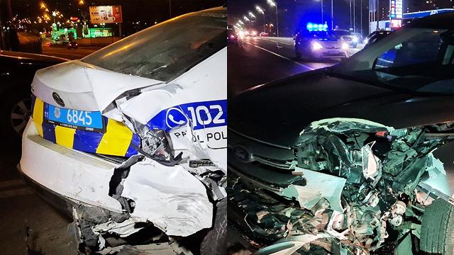 ДТП в Києві: нетверезий водій протаранив авто поліцейської