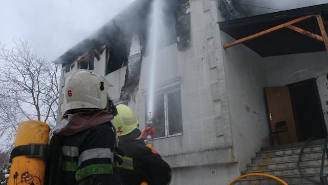 Пожар в доме престарелых Харьков