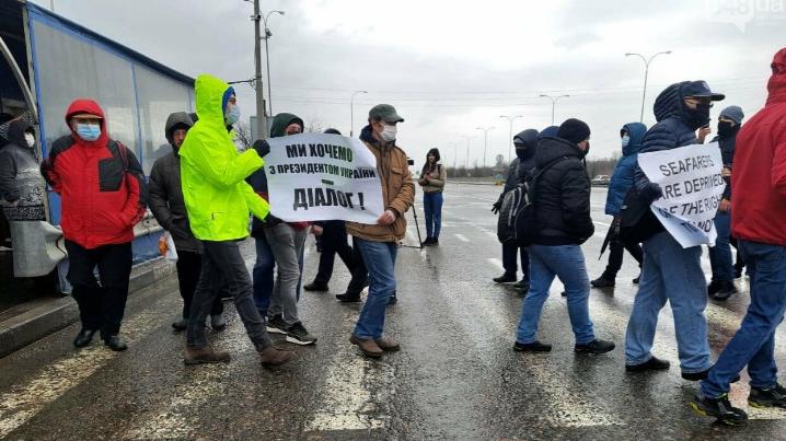 Моряки страйкуют в Одессе