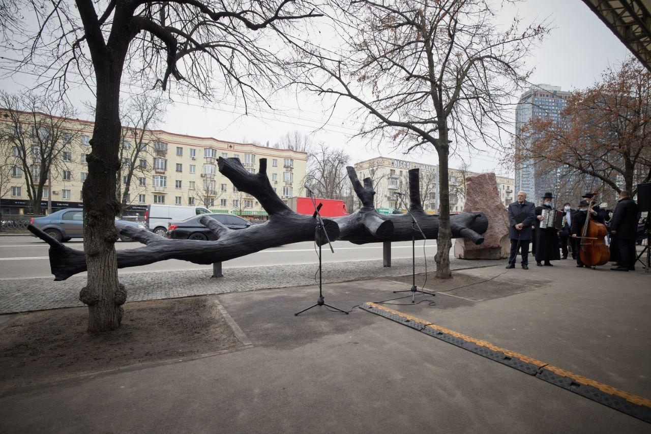 Президент України відкрив інсталяцію Меморіального центру Голокосту Бабин Яр