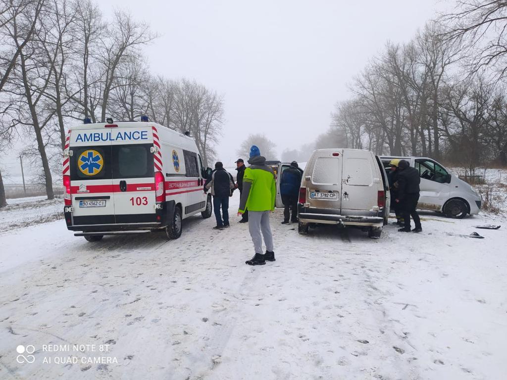 На Тернопільщині у ДТП постраждали семеро дорослих и двое детей