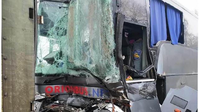 Масова ДТП на Вінниччині: в аварію потрапило 4 фури, автобус і легковики