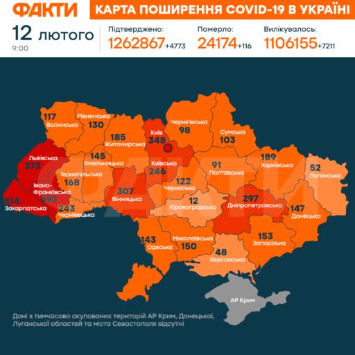коронавірус в Україні 12 лютого