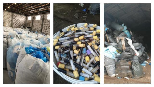 сміттєзвалище з медичними відходами