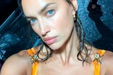 Зелене волосся і яскраві стрази: сексуальний образ Ірини Шейк