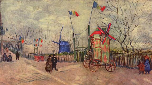 Вулична сцена на Монмартрі Ван Гог