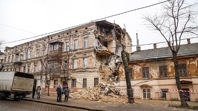 Обвал будинку в Одесі