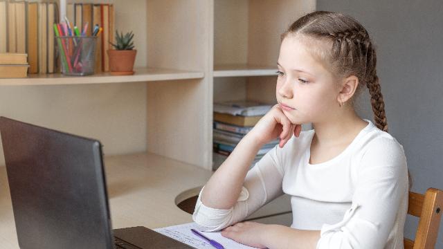 школа, учні, дистанційне навчання, дитина, ноутбук