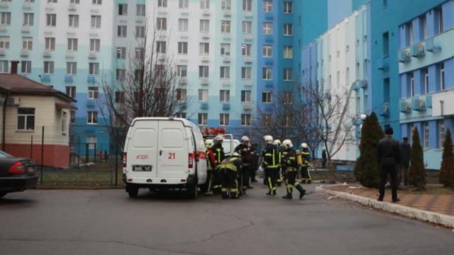 Пожежа в київській лікарні №1
