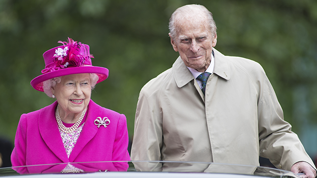 принц Филипп и королева Елизавета