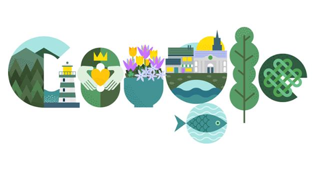 Google створив дудл до Дня святого Патрика
